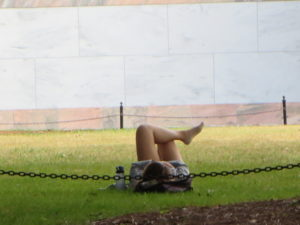 Resting on campus